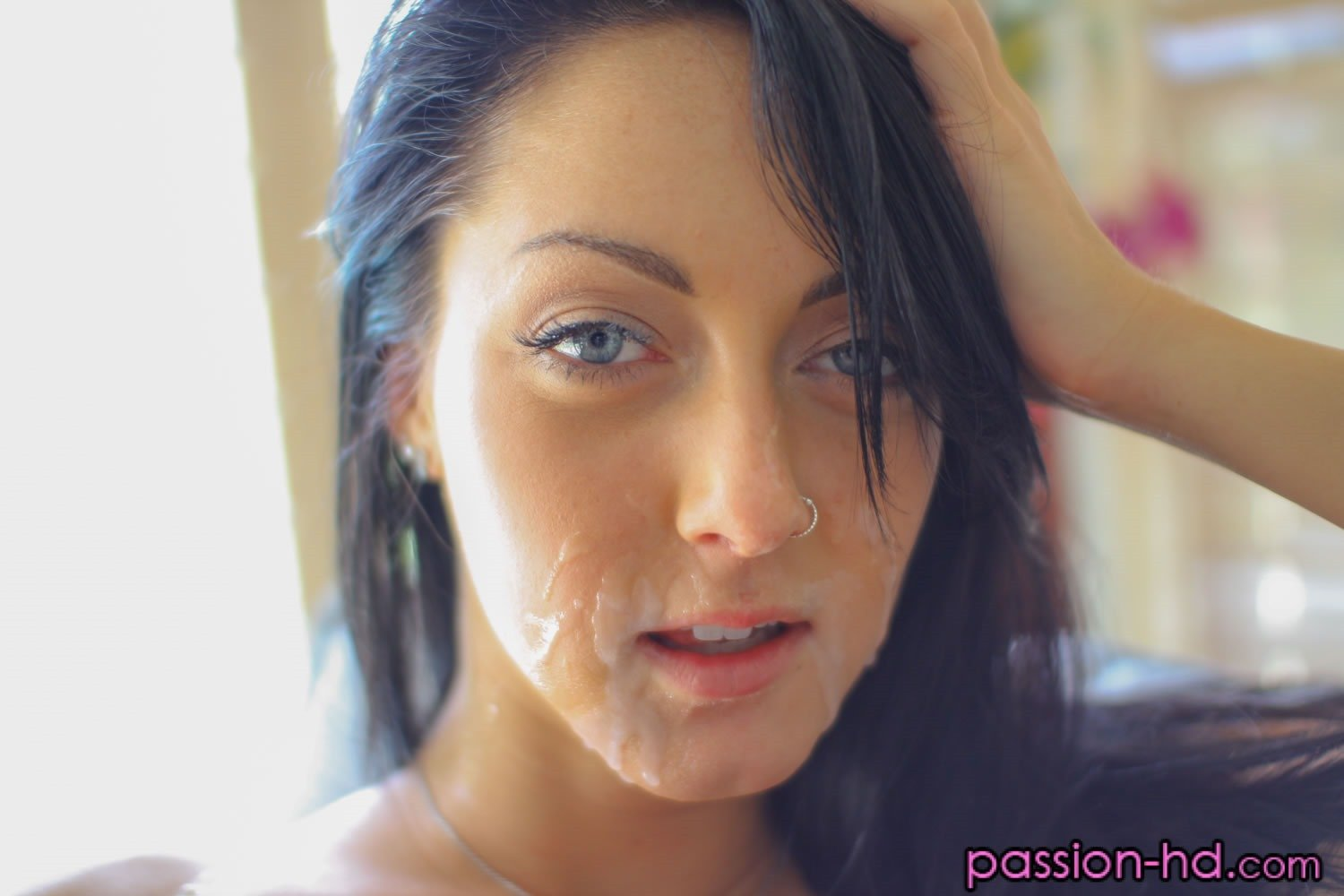 Lucky guy gets to fuck his wife and hot blonde neighbour girl 8